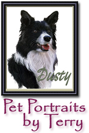 Pet Portraits by Terry, Tall button